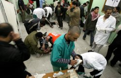 Wounded Palestinians